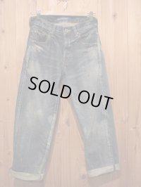 半額SALE!!\27300→\13650!La rosa de la fabrica cropped denim pants dark