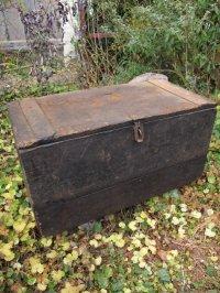 USA輸入 20's30's VINTAGE ビンテージ Wood tool BOX 道具箱