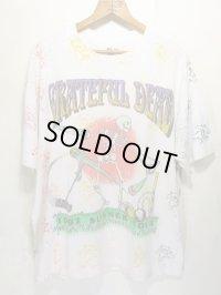 90s Grateful Dead グレイトフルデッド 総柄 ツアー Tシャツ