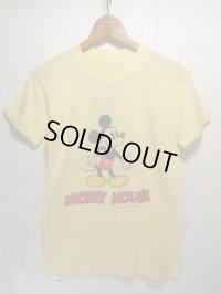 80s Vintage MICKEY ビンテージ ミッキー Tシャツ バックプリント!ディズニー