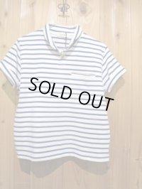 スペシャルSALE!!\7980→\2900 !LAMOND ショールカラーポロシャツ ladys WH × BL