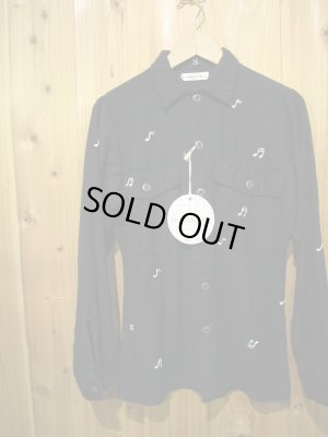 画像1: 半額SALE!!\18900 → \9450!SHANANA MIL US ARMY UTILITY SHIRT (NAVY BODY WHITE EMBROIDERY)