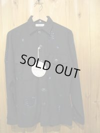 半額SALE!!\18900 → \9450!SHANANA MIL US ARMY UTILITY SHIRT DAMAGE