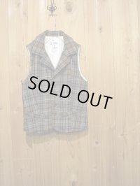 スペシャルSALE!!\14700→\6900 ! La rosa de la fabrica wool check vest GRAY