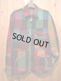 SALE!!\39900→\23940!Gypsy & sons WOOL CRAZY BLOCKCHECK SIZE M