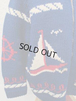 画像2: 送料無料! 60's VINTAGE カウチン セーター マリン