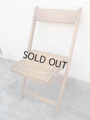 画像1: SALE!¥9800→¥6500!USA輸入 VINTAGE ホールディング チェア 折りたたみ椅子 A