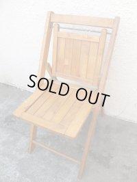 USA輸入 VINTAGE ホールディング チェア 折りたたみ椅子 C