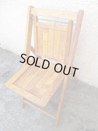 USA輸入 VINTAGE ホールディング チェア 折りたたみ椅子 D