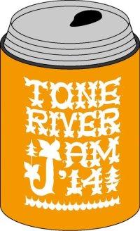 半額SALE!¥800→¥400! TONE RIVER JAM'14 缶クージー (保冷容器)