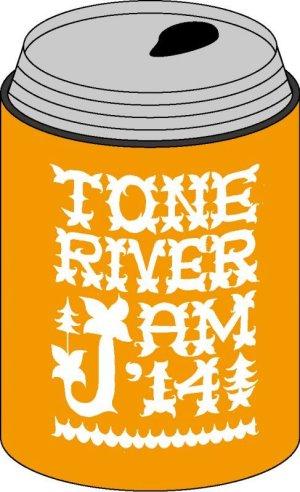 画像1: 半額SALE!¥800→¥400! TONE RIVER JAM'14 缶クージー (保冷容器)