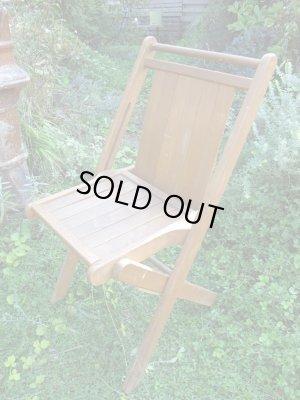 画像1: SALE!¥9800→¥6500!USA輸入 VINTAGE ホールディング チェア 折りたたみ椅子 H