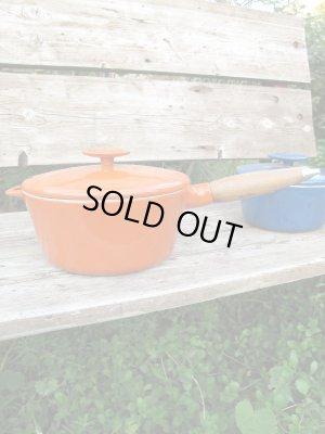 画像2: USA輸入 VINTAGE デンマーク製ビンテージ COPCO コプコ ホーロー 鍋 オレンジ