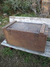 USA輸入 30's VINTAGE ビンテージ Wood tool BOX 道具箱