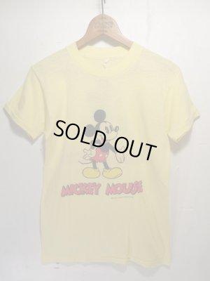 画像1: 80s Vintage MICKEY ビンテージ ミッキー Tシャツ バックプリント!ディズニー