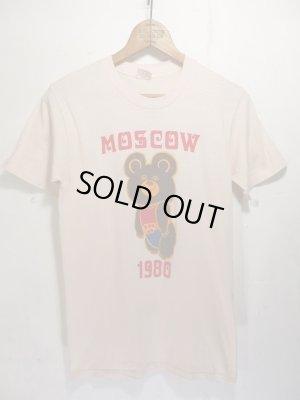 画像1: USA製 '80 Vintage MOSCOW OLIMPIC ビンテージ モスクワ オリンピック こぐまのミーシャ Tシャツ