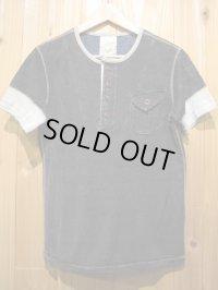 SALE!送料・代引き手数料無料!定価¥13650→¥9500!Gypsy & sons Indigo Henleyneck T-shirts 硫化ブラック