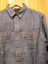 半額SALE!\16590→8295!Gypsy & sons Hickory oild Workman Shirts Blue