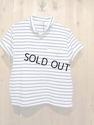 画像1: スペシャルSALE!!\7980→\2900 !LAMOND ショールカラーポロシャツ ladys WH × BL