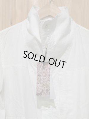 画像2: SALE!!定価¥10290! LAMOND スタンドネックシャツ WHITE