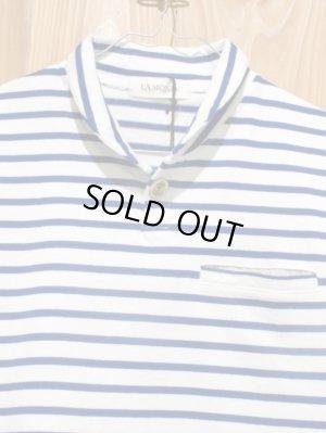 画像2: スペシャルSALE!!\7980→\2900 !LAMOND ショールカラーポロシャツ ladys WH × BL