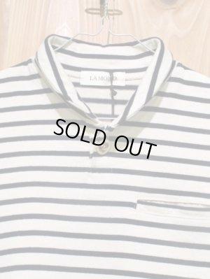 画像4: 送料無料SALE!!! LAMOND ショールカラーポロシャツ ladys OFF × BLK