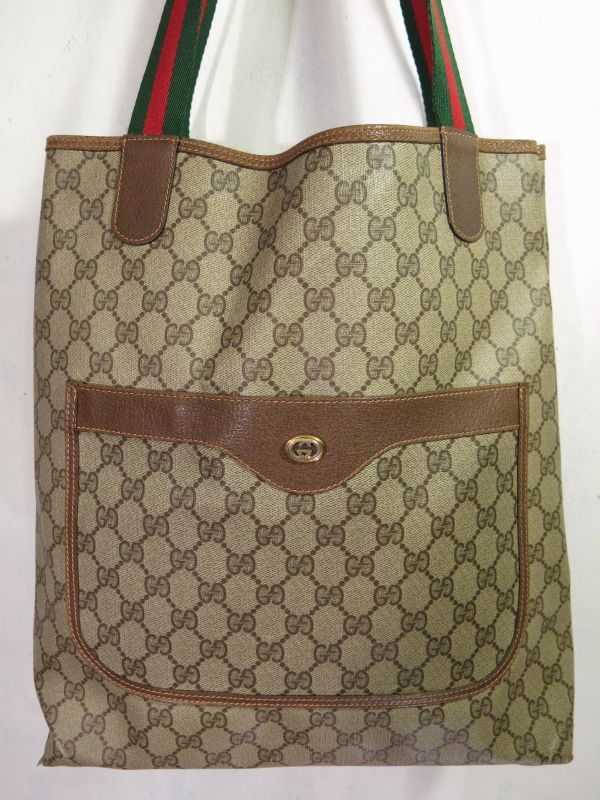 the best attitude d36f9 d5342 Vintage GUCCI TOTE BAG ビンテージ グッチ トートバッグ