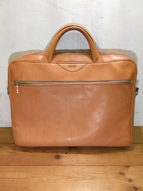 画像1: BREE ブリー ヌメ革 鞄 ブリーフケース トランク